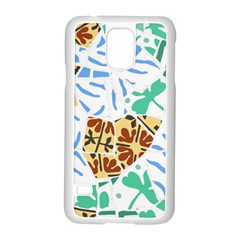Broken Tile Texture Background Samsung Galaxy S5 Case (White)