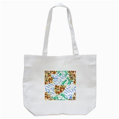 Broken Tile Texture Background Tote Bag (White)