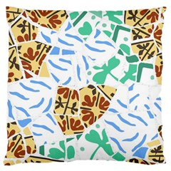 Broken Tile Texture Background Large Flano Cushion Case (Two Sides)