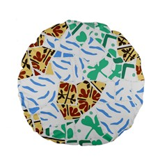 Broken Tile Texture Background Standard 15  Premium Flano Round Cushions