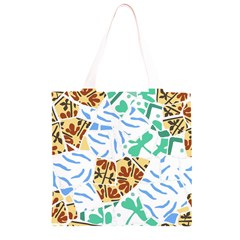 Broken Tile Texture Background Grocery Light Tote Bag
