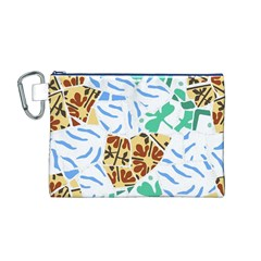 Broken Tile Texture Background Canvas Cosmetic Bag (M)