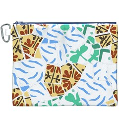 Broken Tile Texture Background Canvas Cosmetic Bag (XXXL)