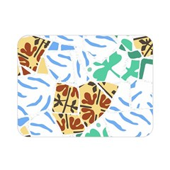 Broken Tile Texture Background Double Sided Flano Blanket (Mini)