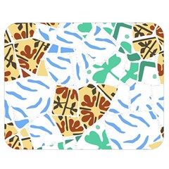 Broken Tile Texture Background Double Sided Flano Blanket (Medium)