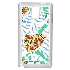Broken Tile Texture Background Samsung Galaxy Note 4 Case (White)
