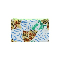 Broken Tile Texture Background Cosmetic Bag (XS)