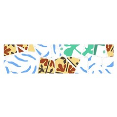 Broken Tile Texture Background Satin Scarf (Oblong)