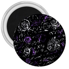 Abstract mind - purple 3  Magnets