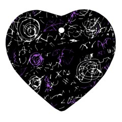 Abstract mind - purple Ornament (Heart)