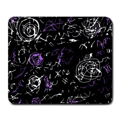 Abstract mind - purple Large Mousepads