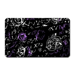 Abstract mind - purple Magnet (Rectangular)