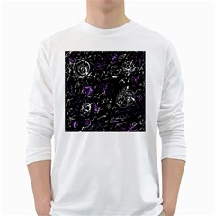 Abstract mind - purple White Long Sleeve T-Shirts