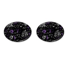 Abstract mind - purple Cufflinks (Oval)