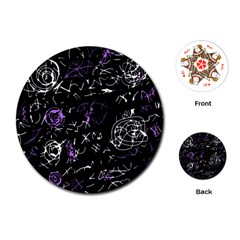 Abstract mind - purple Playing Cards (Round)