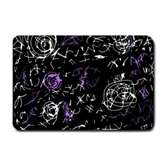 Abstract mind - purple Small Doormat