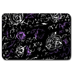 Abstract mind - purple Large Doormat
