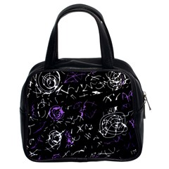 Abstract mind - purple Classic Handbags (2 Sides)