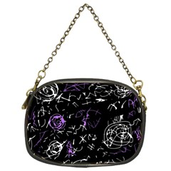 Abstract mind - purple Chain Purses (Two Sides)