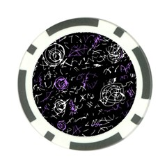 Abstract mind - purple Poker Chip Card Guards (10 pack)