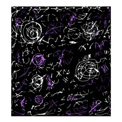 Abstract mind - purple Shower Curtain 66  x 72  (Large)