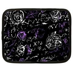 Abstract mind - purple Netbook Case (XL)
