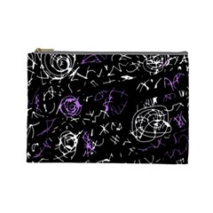 Abstract mind - purple Cosmetic Bag (Large)