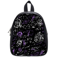 Abstract mind - purple School Bags (Small)