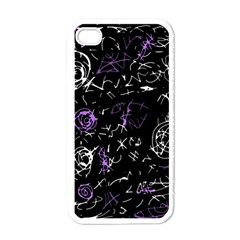 Abstract mind - purple Apple iPhone 4 Case (White)