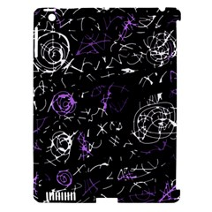 Abstract mind - purple Apple iPad 3/4 Hardshell Case (Compatible with Smart Cover)