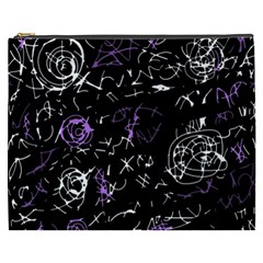 Abstract mind - purple Cosmetic Bag (XXXL)