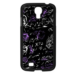 Abstract mind - purple Samsung Galaxy S4 I9500/ I9505 Case (Black)