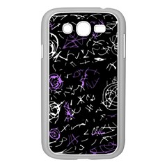 Abstract mind - purple Samsung Galaxy Grand DUOS I9082 Case (White)
