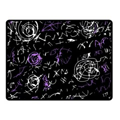 Abstract mind - purple Double Sided Fleece Blanket (Small)