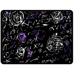 Abstract mind - purple Double Sided Fleece Blanket (Large)