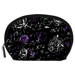 Abstract mind - purple Accessory Pouches (Large)