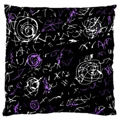 Abstract mind - purple Large Flano Cushion Case (Two Sides)
