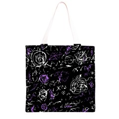 Abstract mind - purple Grocery Light Tote Bag