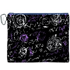 Abstract mind - purple Canvas Cosmetic Bag (XXXL)