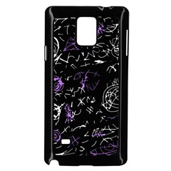 Abstract mind - purple Samsung Galaxy Note 4 Case (Black)