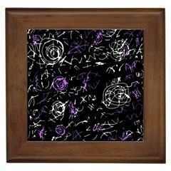 Abstract mind - purple Framed Tiles