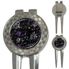 Abstract mind - purple 3-in-1 Golf Divots
