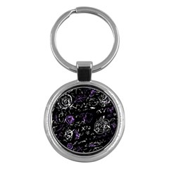 Abstract mind - purple Key Chains (Round)