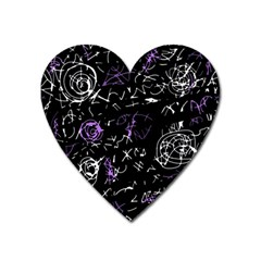 Abstract mind - purple Heart Magnet