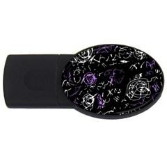 Abstract mind - purple USB Flash Drive Oval (1 GB)