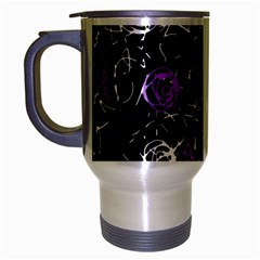 Abstract mind - purple Travel Mug (Silver Gray)