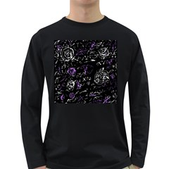 Abstract mind - purple Long Sleeve Dark T-Shirts