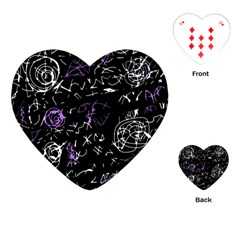 Abstract mind - purple Playing Cards (Heart)