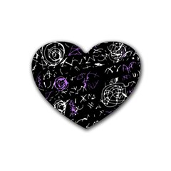 Abstract mind - purple Heart Coaster (4 pack)