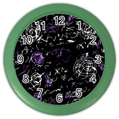 Abstract mind - purple Color Wall Clocks